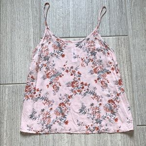 Forever 21 light pink tank top with flowers